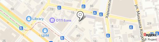 КОЛОРИТ на карте Днепропетровска