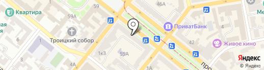 Карабас на карте Днепропетровска