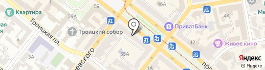 Львівська майстерня шоколаду на карте Днепропетровска