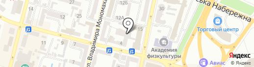 Авторизованный сервисный центр №1 на карте Днепропетровска
