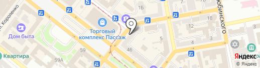 Паритет на карте Днепропетровска