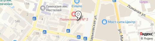 Банзай на карте Днепропетровска
