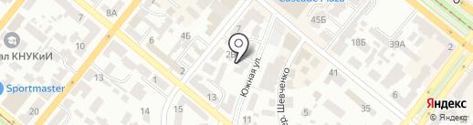 Канцтовари для дому і офісу на карте Днепропетровска