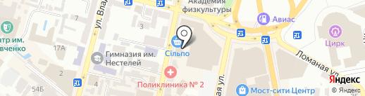 СУШИЯ на карте Днепропетровска