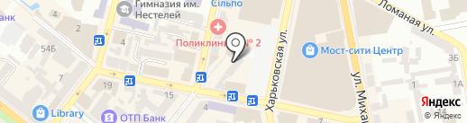 Дамодара на карте Днепропетровска