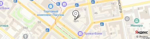 Нотариус Вдовина Л.Л. на карте Днепропетровска
