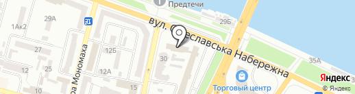 Прокуратура м. Дніпропетровська на карте Днепропетровска
