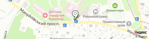 Укрпошта на карте Днепропетровска