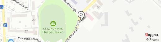 На троих на карте Днепропетровска