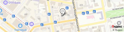 L`etude на карте Днепропетровска