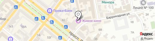 Семицвет на карте Днепропетровска