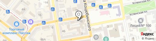 Американский центр туризма и искусства на карте Днепропетровска
