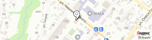 Сен-су-яки на карте Днепропетровска
