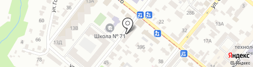 Управління праці та соціального захисту населення Жовтневого району на карте Днепропетровска