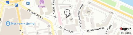Теплоэнерго, КП на карте Днепропетровска