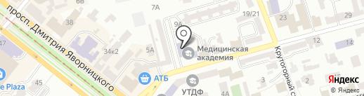 Банкомат, АКБ ИНДУСТРИАЛБАНК на карте Днепропетровска