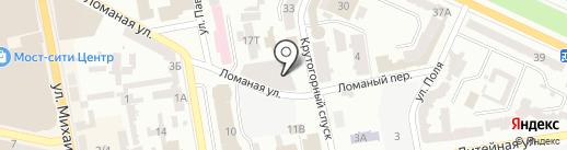 Материк на карте Днепропетровска