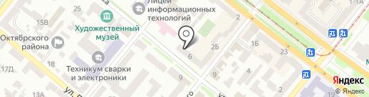Горгазтепло на карте Днепропетровска