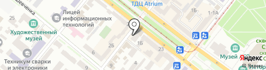 Фотоцентр на ул. Жуковского на карте Днепропетровска