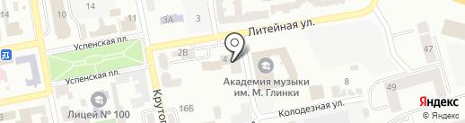 Дефа на карте Днепропетровска
