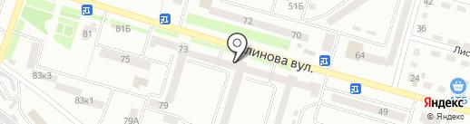 Брусничка на карте Днепропетровска