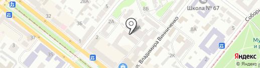 Гуртожиток на карте Днепропетровска