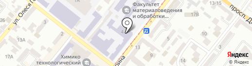 Техносплавы на карте Днепропетровска