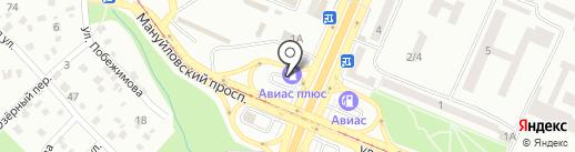 АЗС АВІАС плюс на карте Днепропетровска