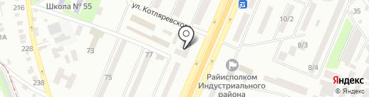 Терос на карте Днепропетровска