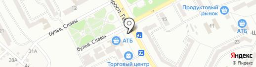 Магазин хозтоваров на бульваре Славы на карте Днепропетровска