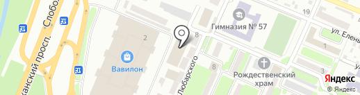 Солнечный на карте Днепропетровска