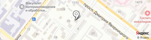 Рафинад на карте Днепропетровска