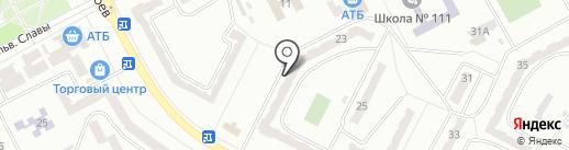 Окошко на карте Днепропетровска