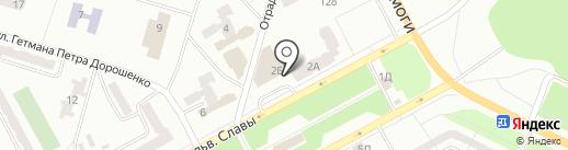 Домик быта на карте Днепропетровска