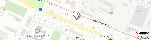 Шиномонтажная мастерская на карте Днепропетровска