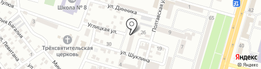 Центр соціальних служб для сім`ї на карте Днепропетровска