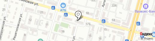 Глория на карте Днепропетровска