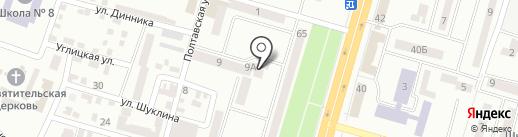 Хозяюшка на карте Днепропетровска
