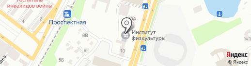 ДДІФКіС на карте Днепропетровска