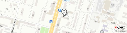 Шпилька на карте Днепропетровска