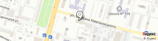Індустріальний районний центр зайнятості м. Дніпропетровська на карте Днепропетровска
