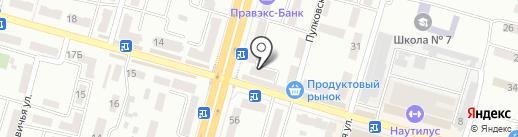 Нотариус Устимова Т.Г. на карте Днепропетровска