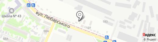 Авирис на карте Днепропетровска