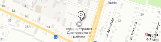 Управління праці та соціального захисту населення Дніпропетровської районної державної адміністрації на карте Юбилейного
