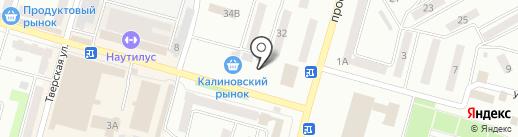 Хлебный киоск на карте Днепропетровска