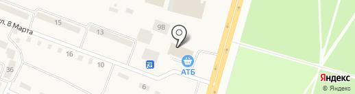 Банкомат, КБ ПриватБанк на карте Юбилейного