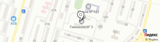 Гімназія №3 на карте Днепропетровска