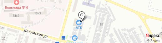 Магазин автозапчастей на карте Днепропетровска