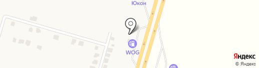 АЗС WOG на карте Подгородного