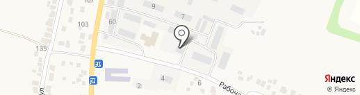 Почтовое отделение №22 пос. Подгородное на карте Подгородного